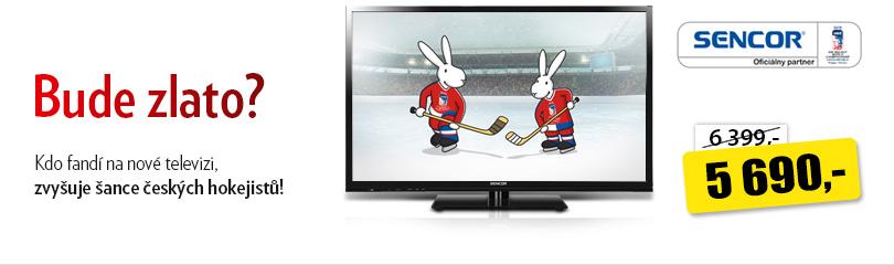Kdo fandí na nové televizi, zvyšuje šance českých hokejistů!
