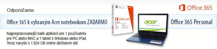 K vybraným notebookom Acer MS Office ZADARMO