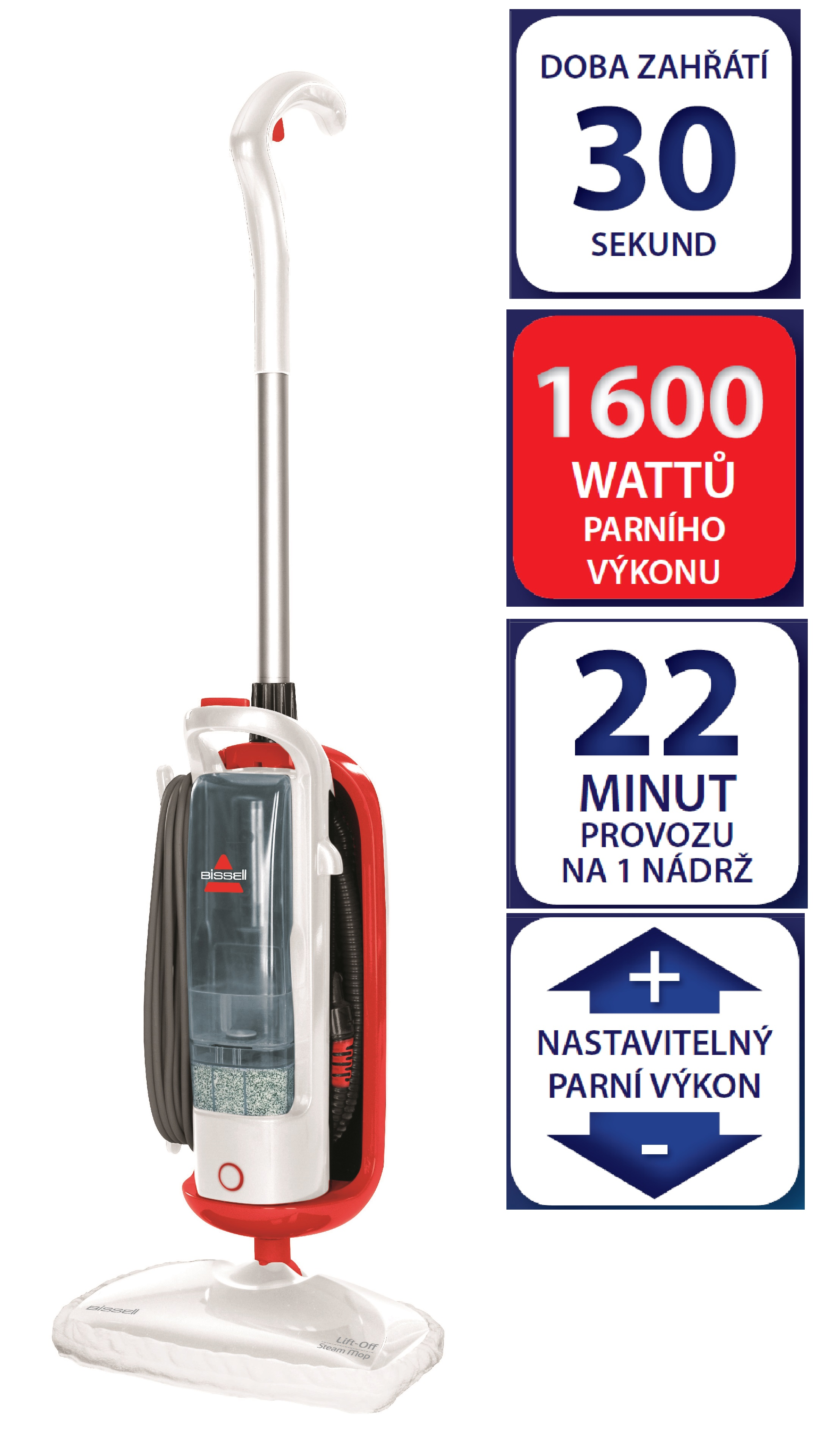 Parní čistič Bissell Lift Off Steam Mop