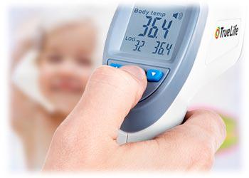 Truelife CARE Q7 Blue Infrarot Fieberthermometer Berührungsloses messen