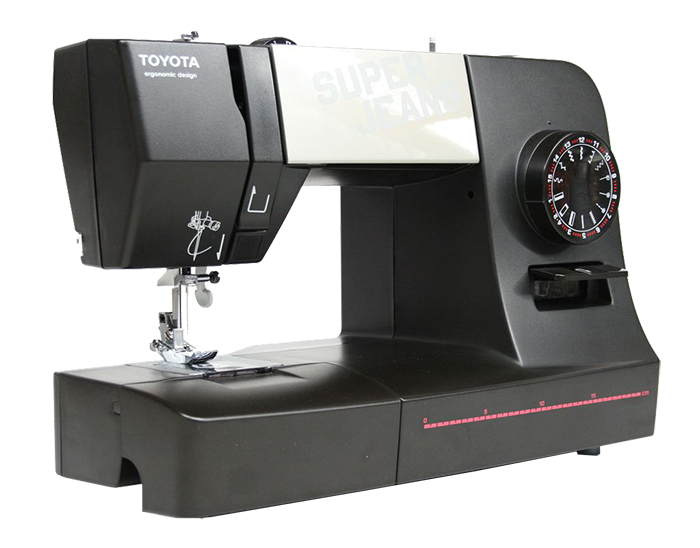 toyota super jeans j15 black sewing machine. Black Bedroom Furniture Sets. Home Design Ideas