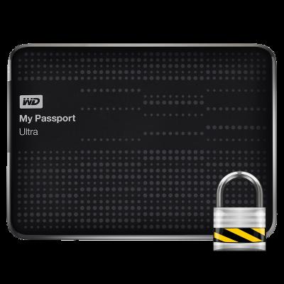 WD My Passport Ultra 1000 GB chrání vaše data