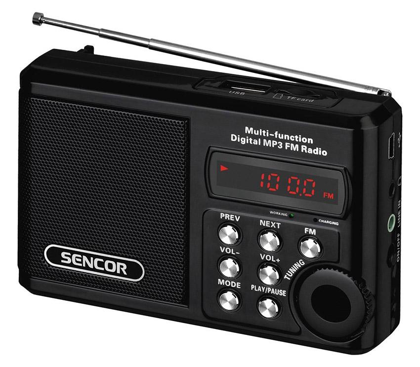 sencor srd 215 b black radio alzashop com