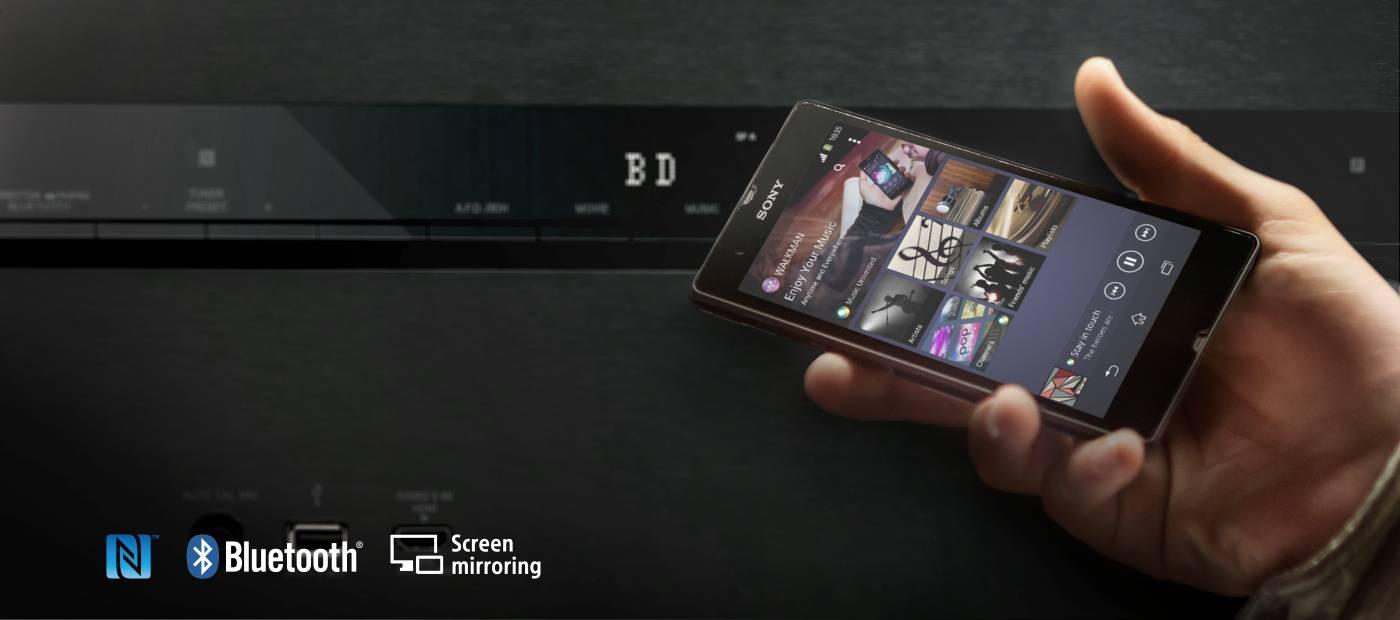 Plynulé streamování s technologiemi Wi-Fi, DLNA a Bluetooth