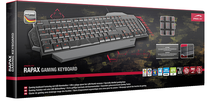 SPEED LINK Rapax Gaming Keyboard