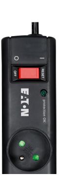 Přepěťová ochrana EATON Protection Strip 6 FR