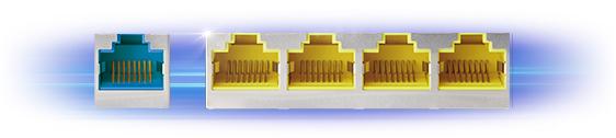 Gigabitové kabelové připojení pro přenos dat ultra vysokou rychlostí