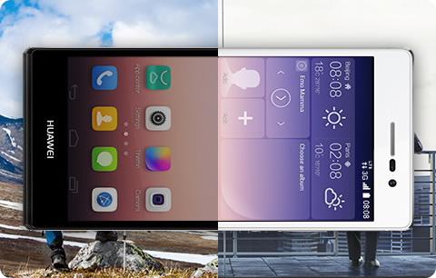 Přepínání sítí a dvě antény (fotografie je ilustrační a barvené zpracování telefonu nemusí odpovídat právě prohlíženému modelu).