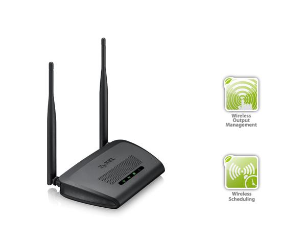 WiFi router Zyxel NBG-418N v2 ekologické funkce