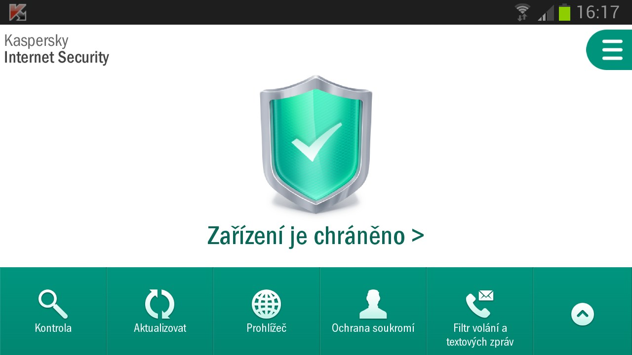 Kaspersky Internet Security pro Android CZ
